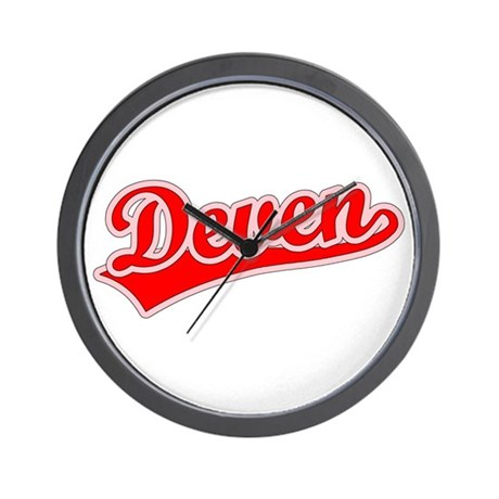 Retro Deven (Red) Wall Clock