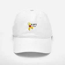 Navy Sister (Ribbon Rose) Baseball Baseball Cap