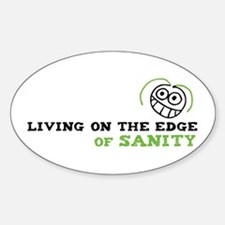 Living on the Edge Oval Decal