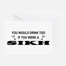 Sikh You'd Drink Too Greeting Cards (Pk of 10)