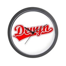 Retro Devyn (Red) Wall Clock