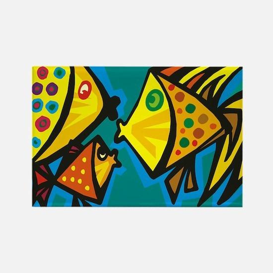 Fish Gossip Rectangle Magnet