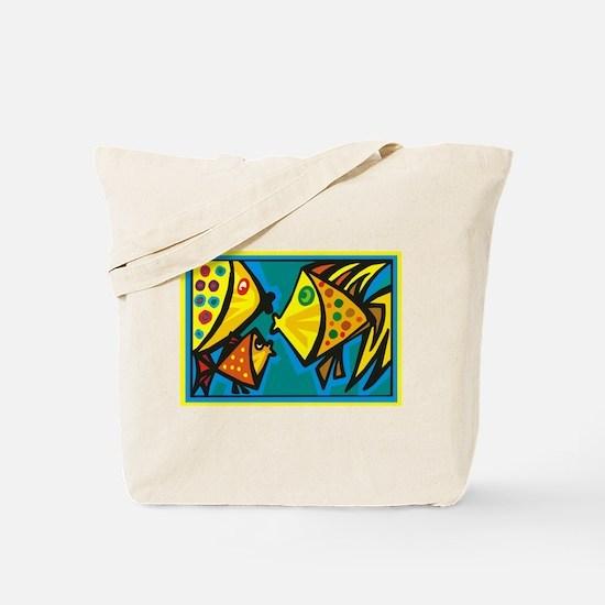 Fish Gossip Tote Bag