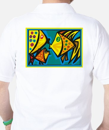 Fish Gossip Golf Shirt