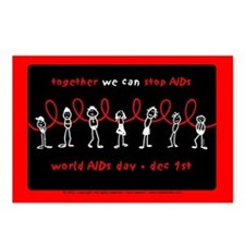 We Can STOP AIDs... Postcards (Package of 8)