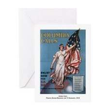 Columbia Calls Enlist Now Greeting Card