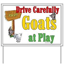 Goats at Play Yard Sign