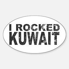 I Rocked Kuwait Oval Decal
