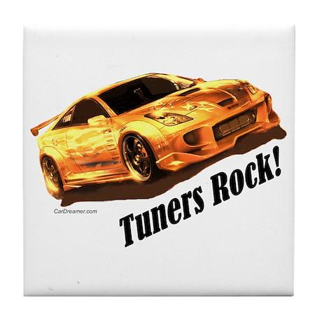 """Tuners Rock"" Tile Coaster"