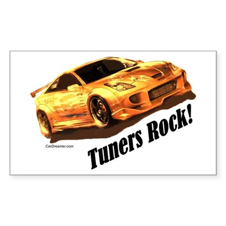 """Tuners Rock"" Rectangle Sticker"