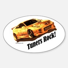 """""""Tuners Rock"""" Oval Decal"""