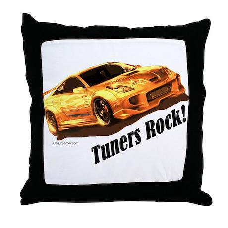"""Tuners Rock"" Throw Pillow"