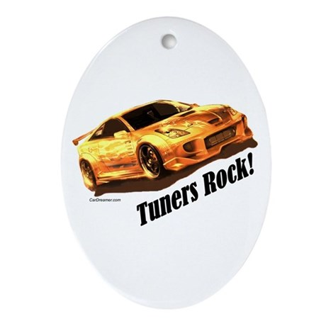 """""""Tuners Rock"""" Oval Ornament"""