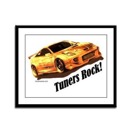 """""""Tuners Rock"""" Framed Panel Print"""