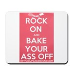 "Cupcake Rehab ""ROCK ON.."" Logo Mousepad"