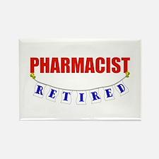 Retired Pharmacist Rectangle Magnet