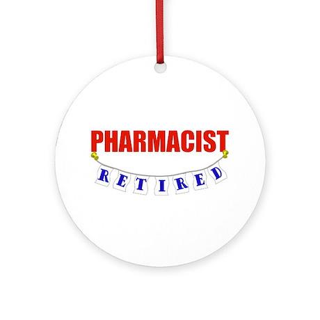Retired Pharmacist Ornament (Round)
