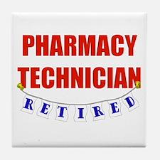 Retired Pharmacy Technician Tile Coaster