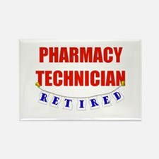 Retired Pharmacy Technician Rectangle Magnet