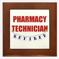 Retired Pharmacy Technician Framed Tile