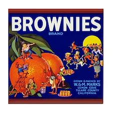 Brownies Brand Tile Coaster