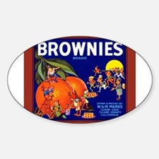 Brownies Brand Oval Decal
