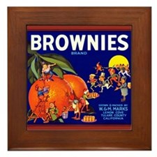 Brownies Brand Framed Tile