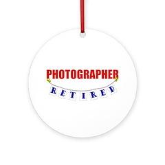 Retired Photographer Ornament (Round)
