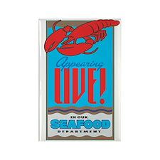 Live Lobster Rectangle Magnet