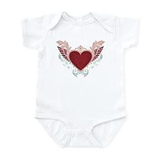 Girl's Red Heart | Infant Bodysuit