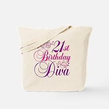 21st Birthday Diva Tote Bag