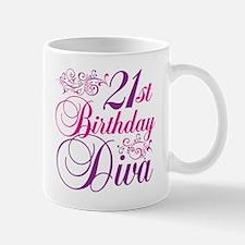 21st Birthday Diva Mug