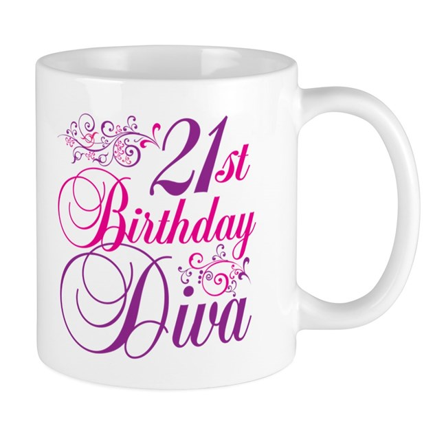 21st Birthday Diva Mug By Letscelebrate