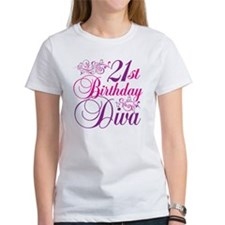 21st Birthday Diva Tee