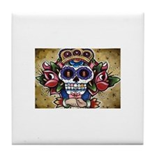 Day of the dead Mexican skull Tile Coaster