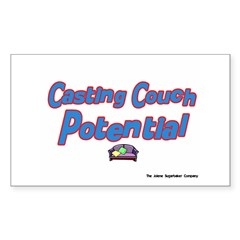Casting Couch Pontential Rectangle Decal