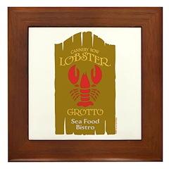 Lobster Grotto Framed Tile