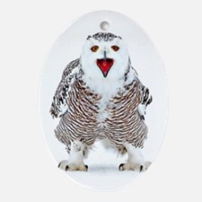 Cute Owl flight Oval Ornament