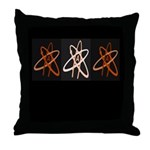 ATHEIST ORANGE Throw Pillow
