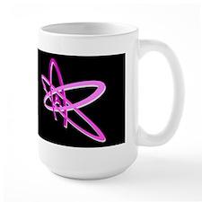 ATHEIST SYMBOL PINK DARK Mug