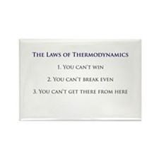 3 Laws of Thermodynamics Rectangle Magnet