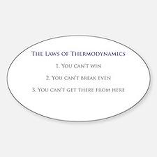 3 Laws of Thermodynamics Oval Sticker (10 pk)
