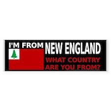 I'm From New England Bumper Bumper Bumper Sticker