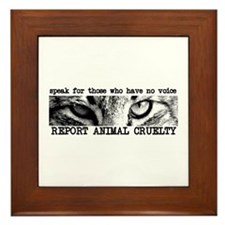 Report Animal Cruelty Cat Framed Tile