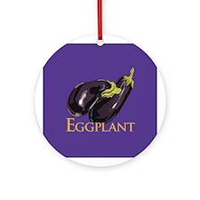 Eggplant/Aubergine Ornament (Round)