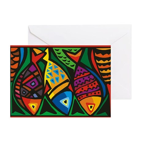 Stop Light Fish Greeting Cards (Pk of 10)