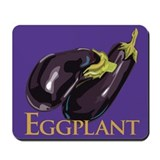 Eggplant computer Mouse Pads