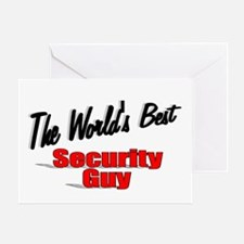 """ The World's Best Security Guy"" Greeting Card"