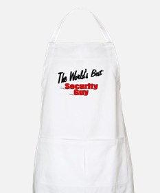 """ The World's Best Security Guy"" BBQ Apron"