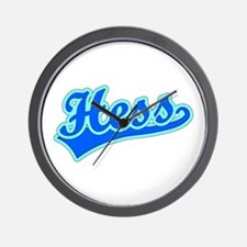 Retro Hess (Blue) Wall Clock